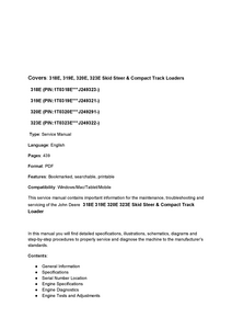 John Deere 318E manual