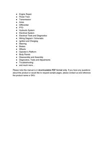 John Deere 319E manual