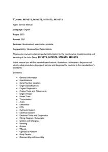 John Deere 9570 STS manual