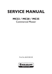 New Holland MC22 Commercial Mower manual