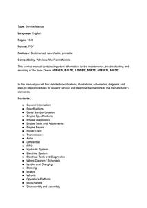 John Deere 5093EN manual