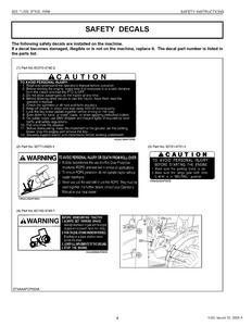 Kubota BT820 WSM Front Backhoe manual