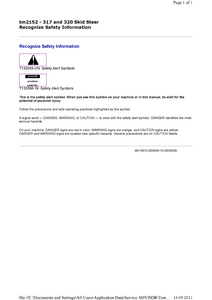 John Deere CT322 Compact Track Loader service manual