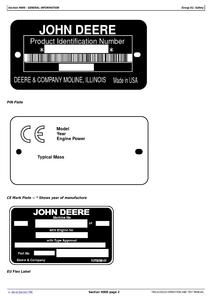John Deere 909MH service manual