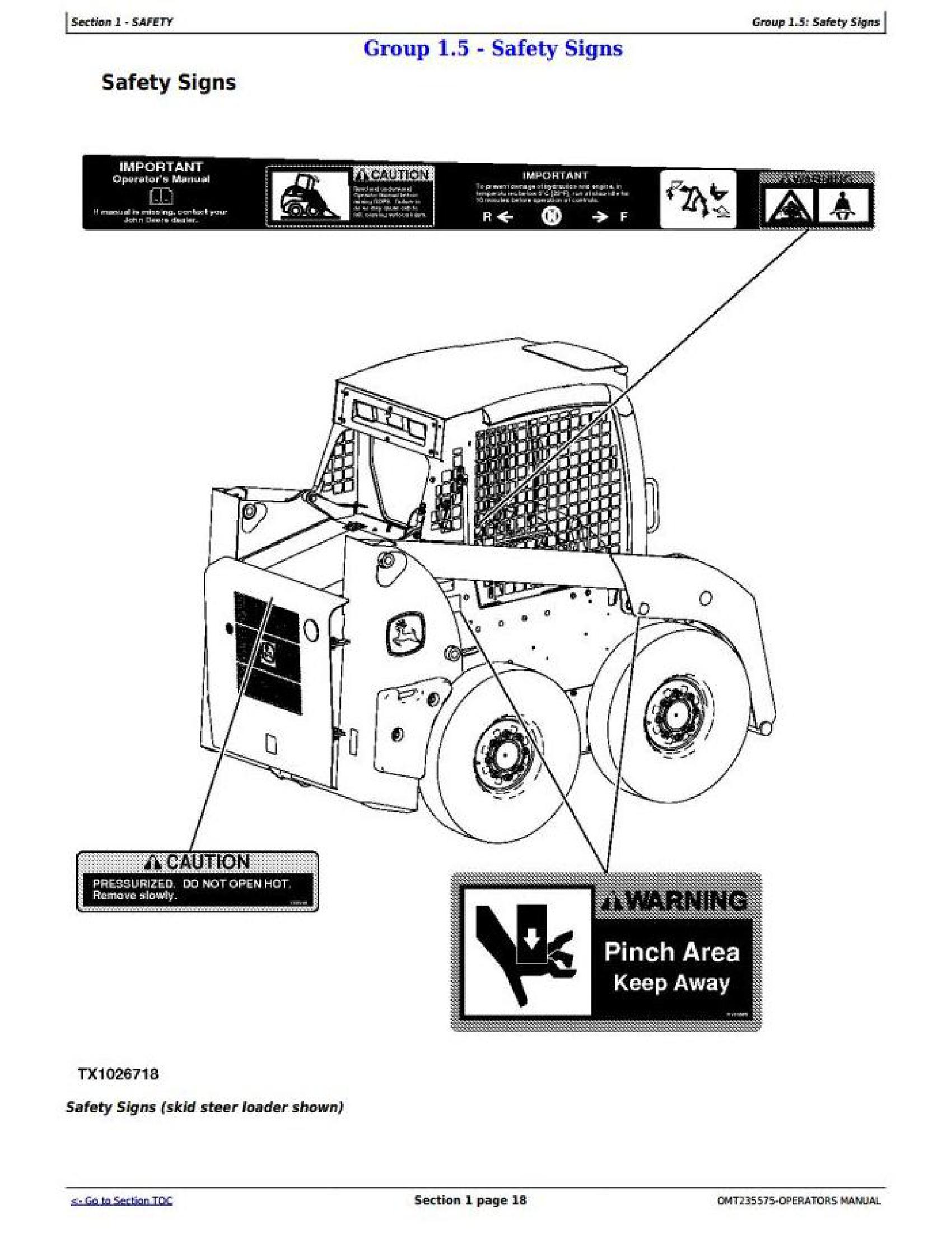 John Deere CT315 manual pdf