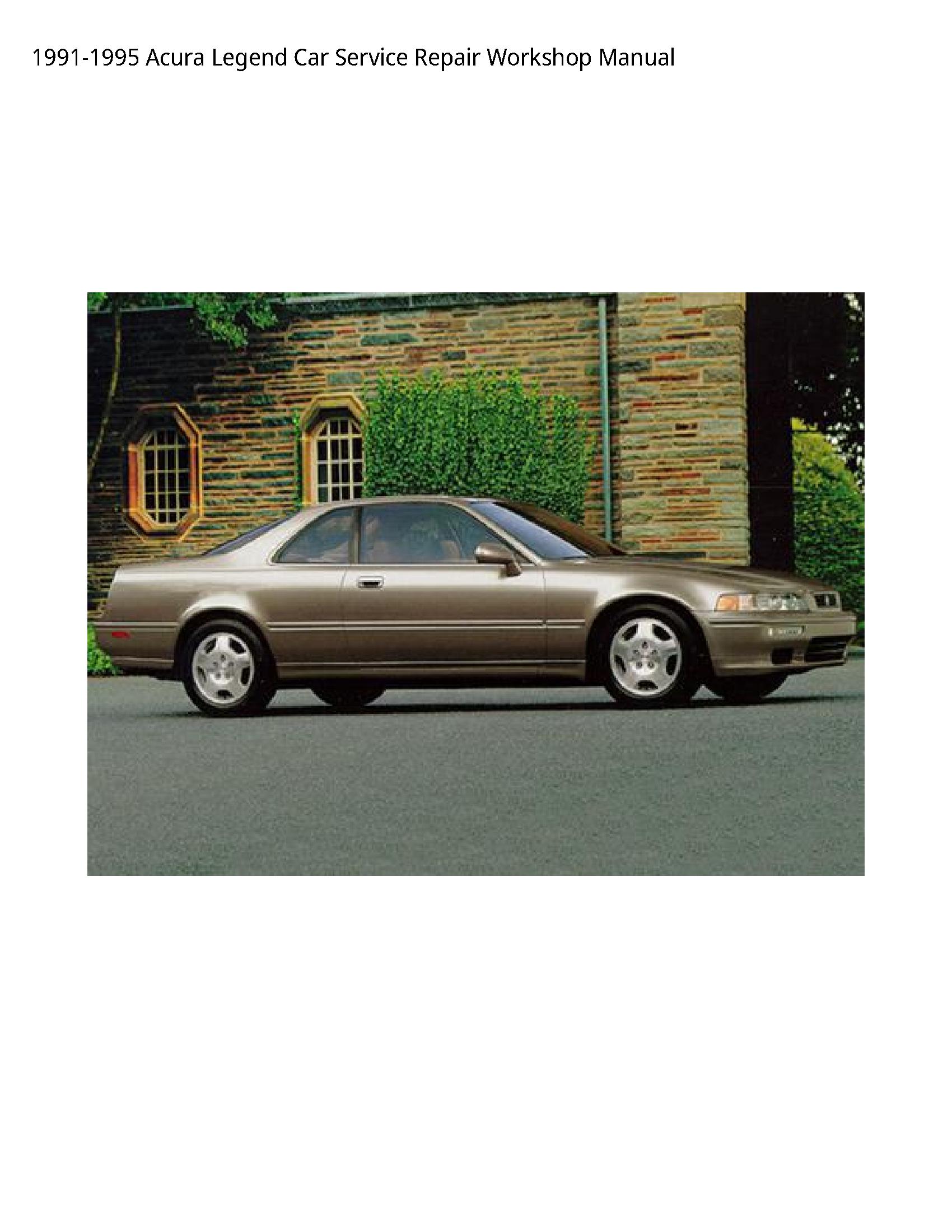 Acura Legend Car manual