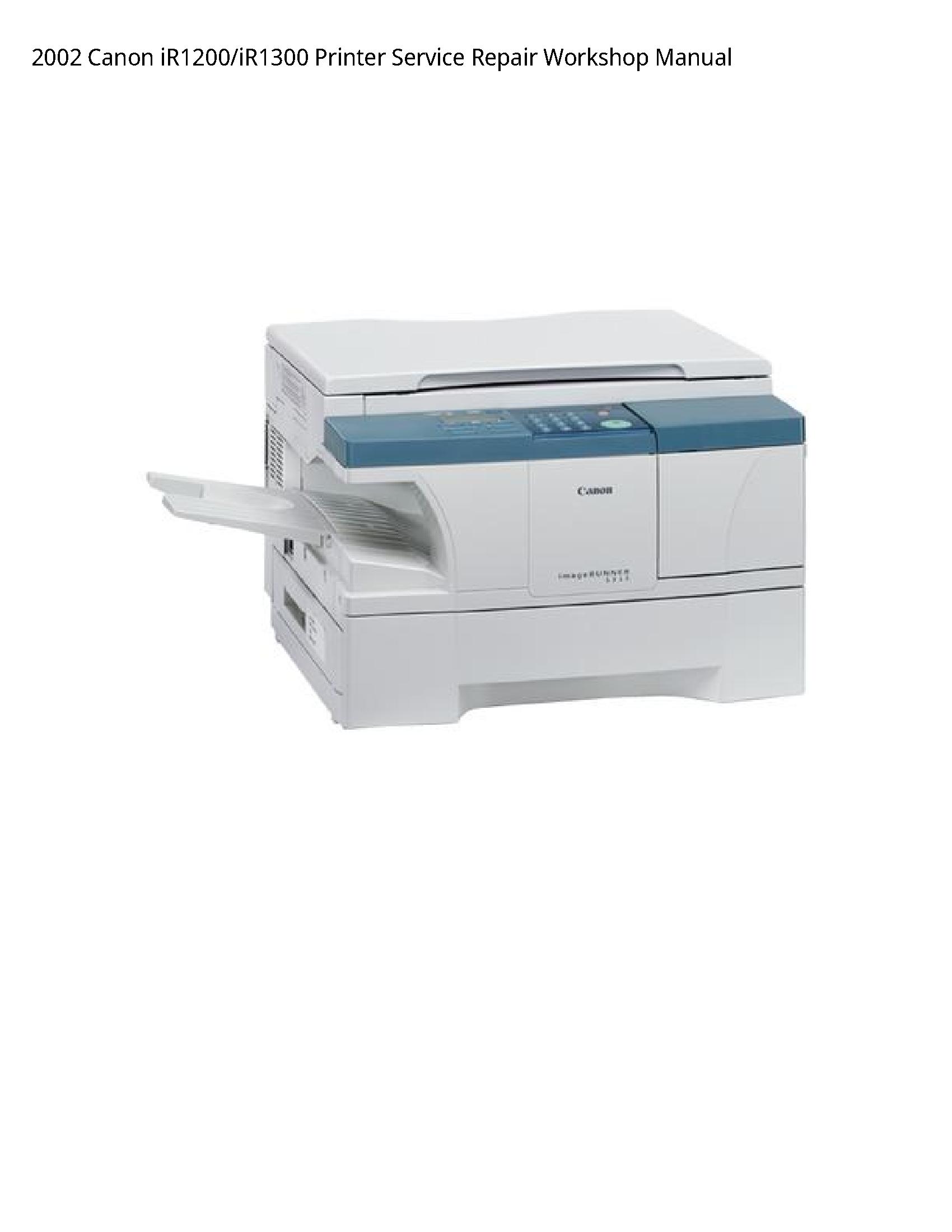 Canon iR1200 Printer manual