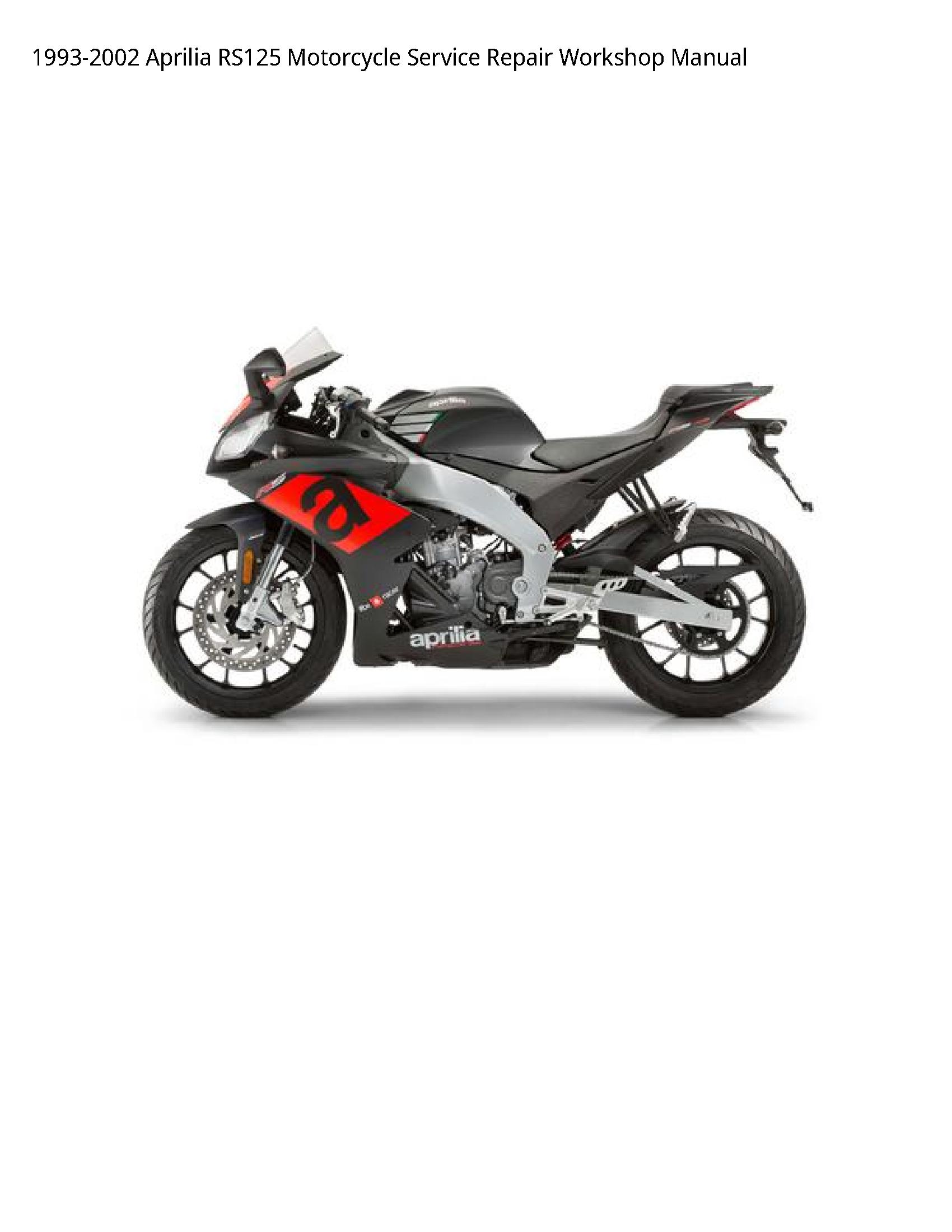 Aprilia RS125 Motorcycle manual