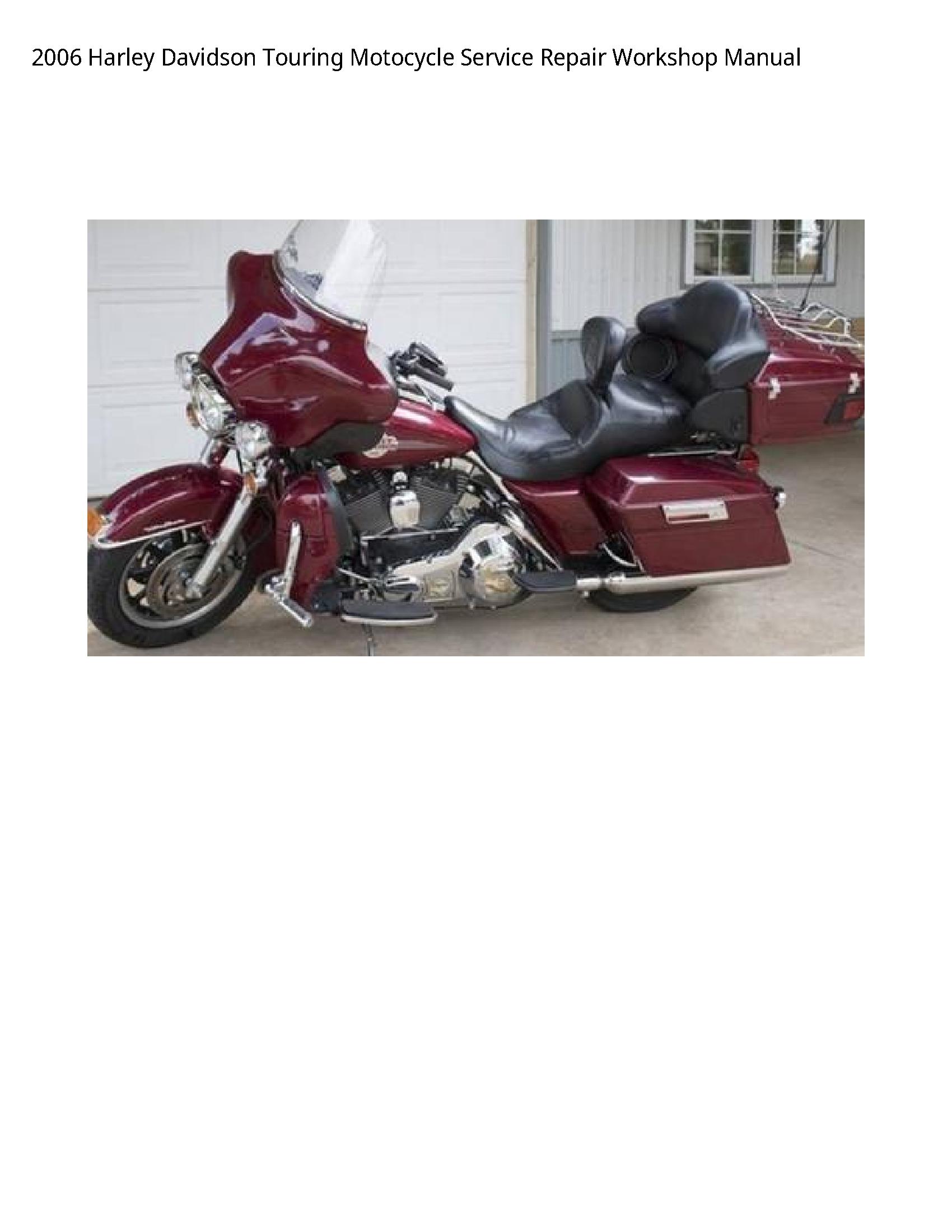 Harley Davidson Touring Motocycle manual