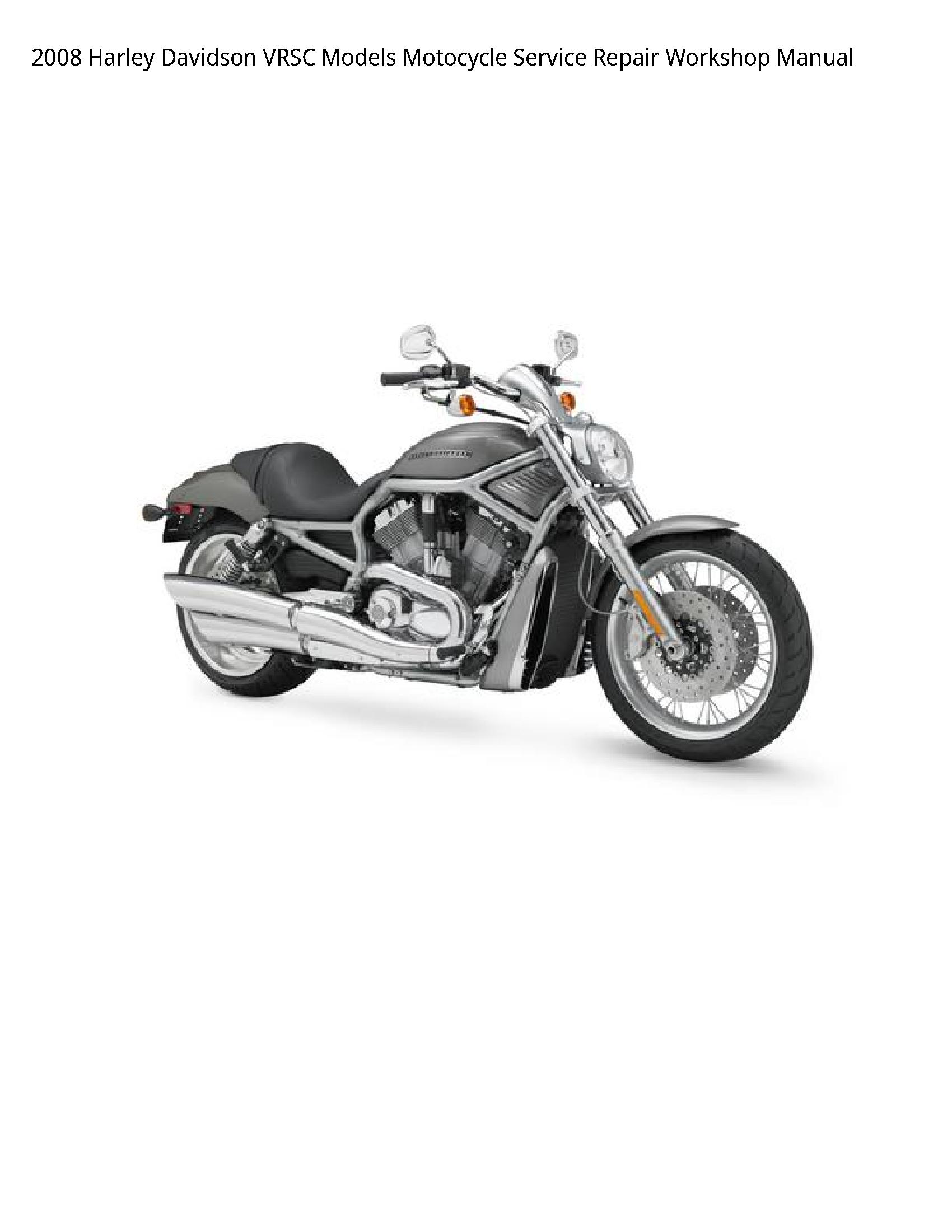 Harley Davidson VRSC Motocycle manual