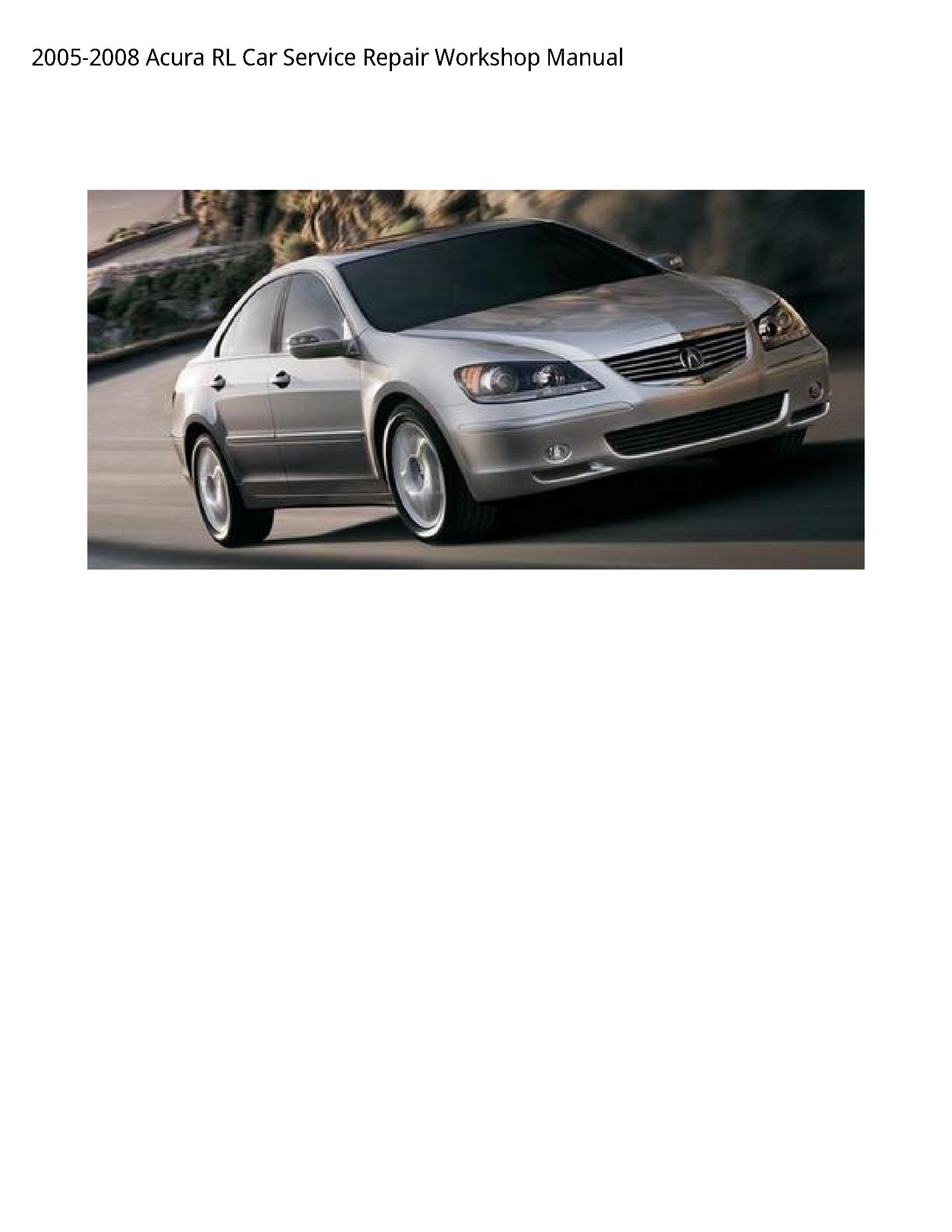 Acura RL Car manual