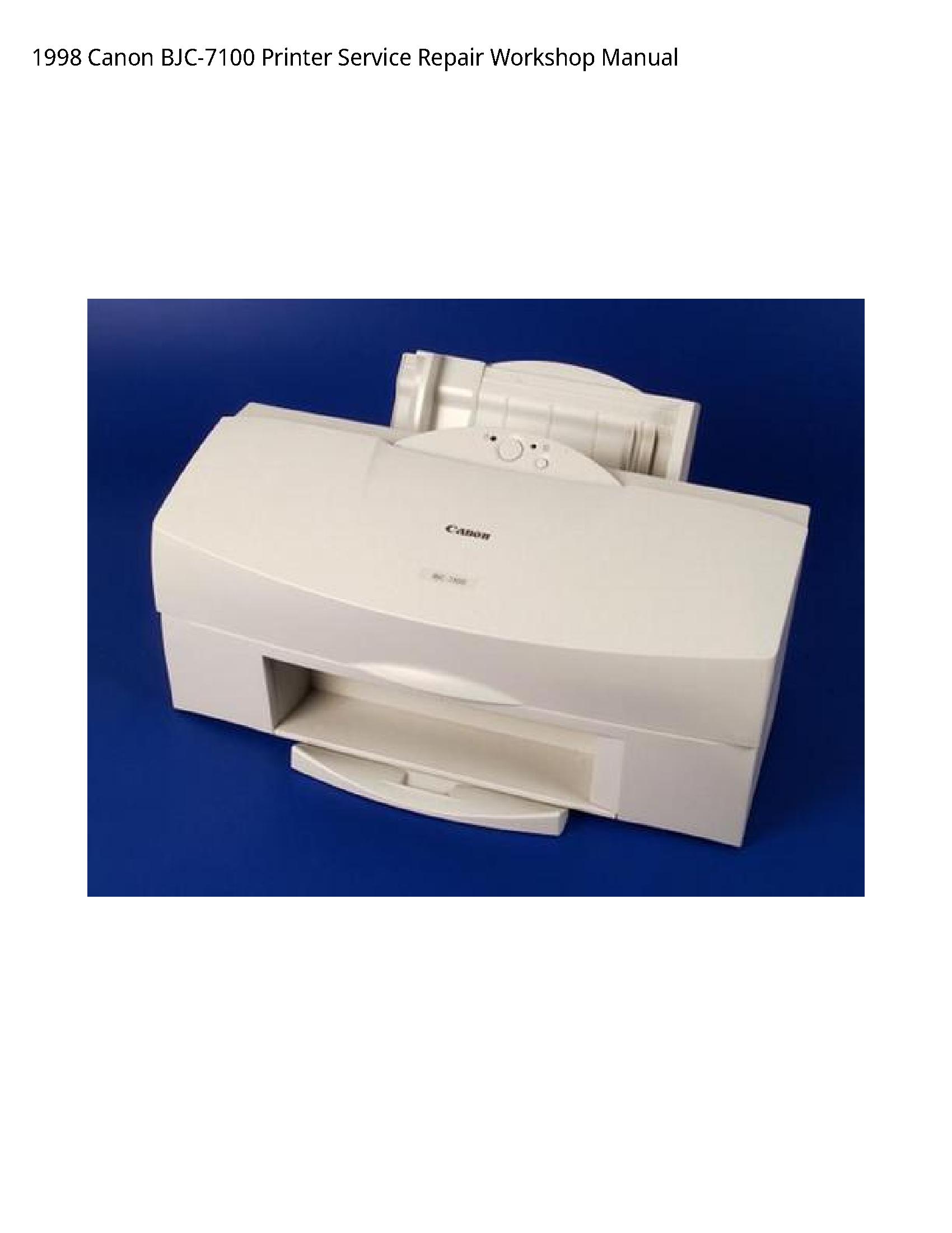 Canon BJC-7100 Printer manual
