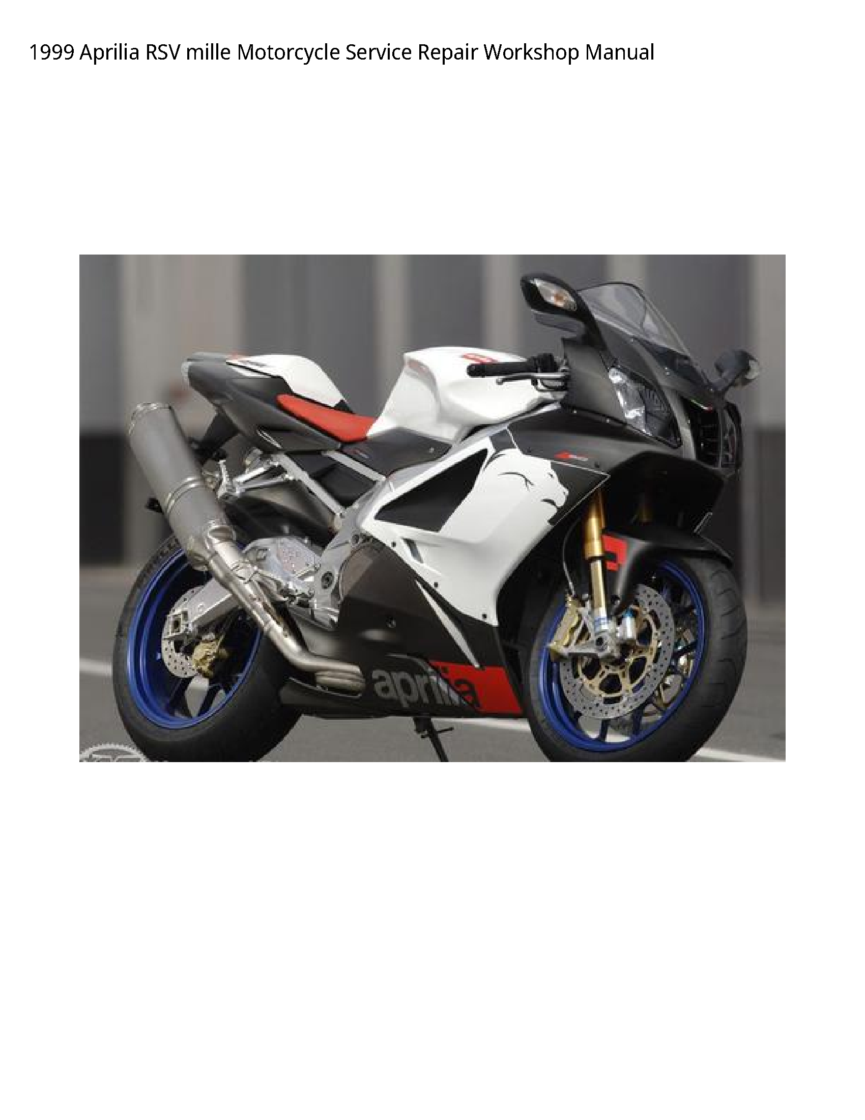 Aprilia RSV mille Motorcycle manual
