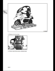 BMW 200 Scooter Motorcycle manual