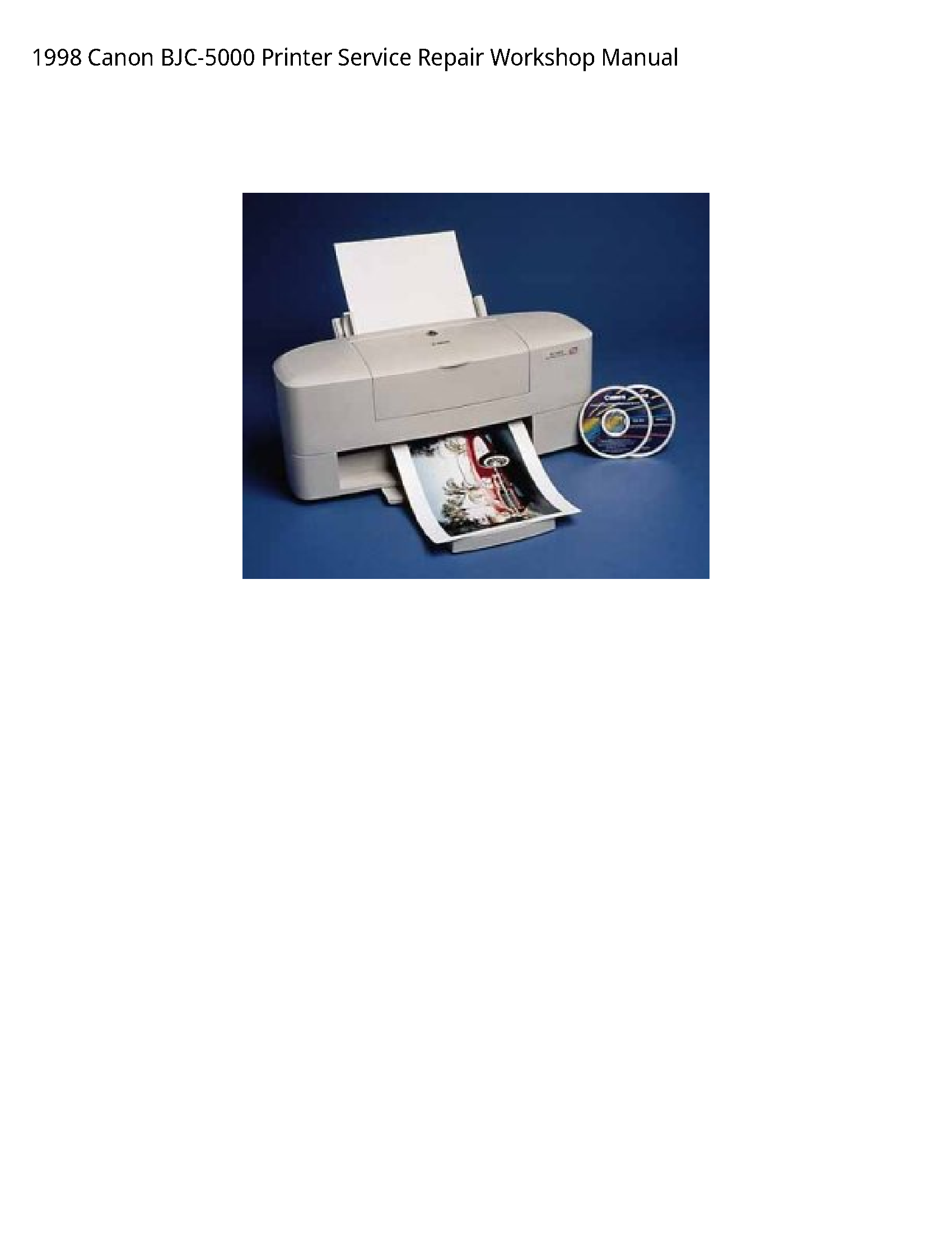 Canon BJC-5000 Printer manual