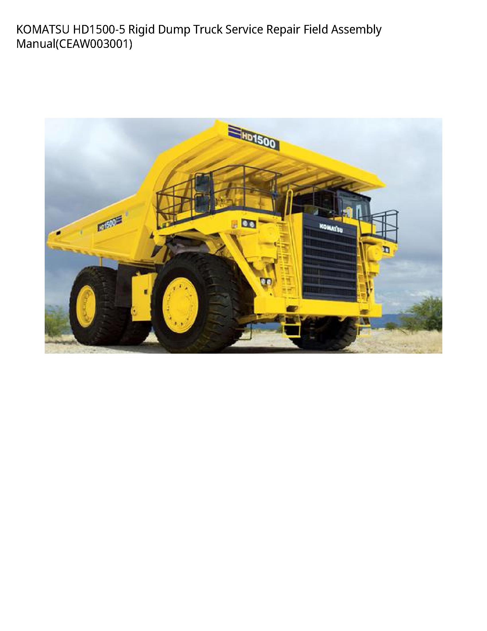 KOMATSU HD1500-5 Rigid Dump Truck manual