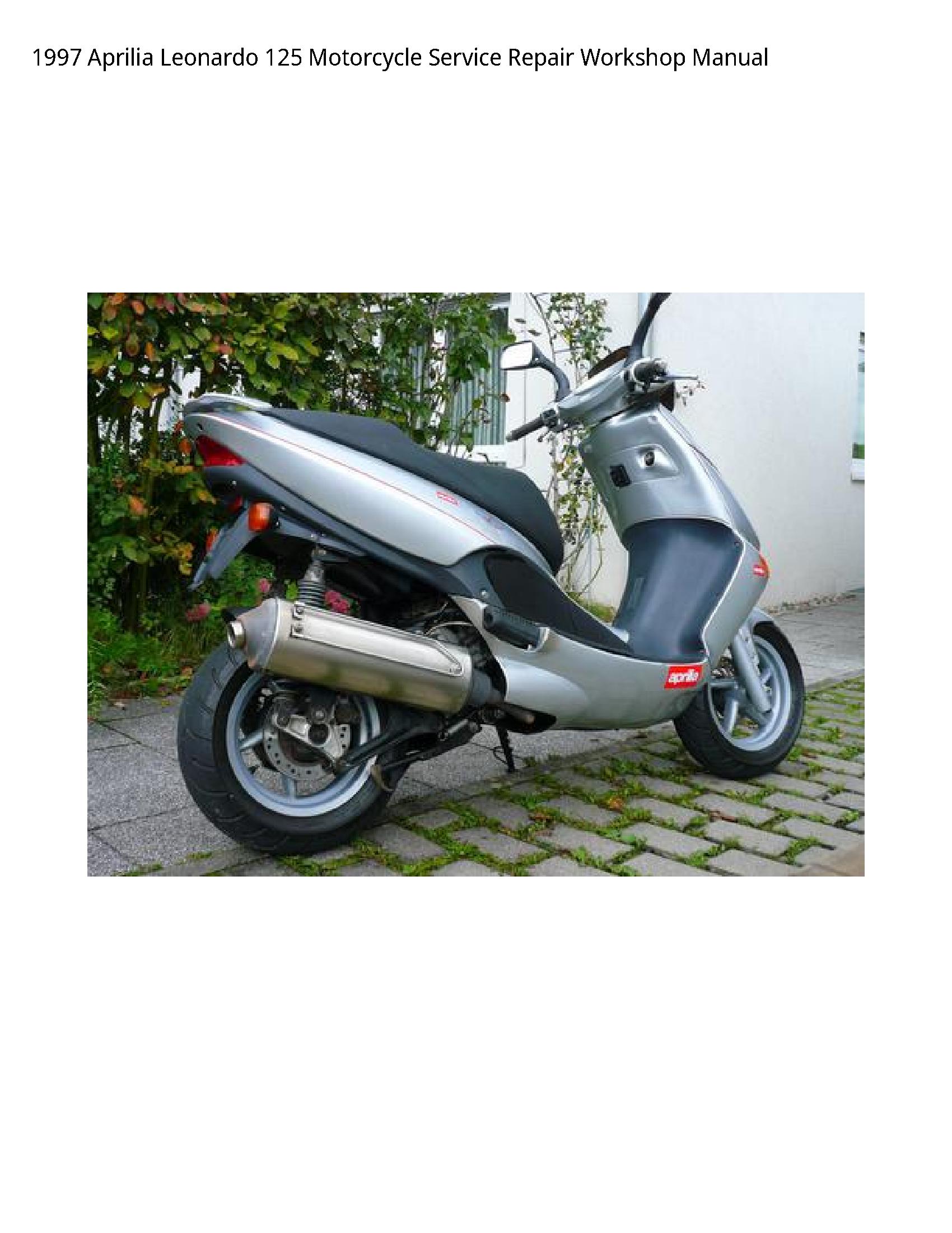 Aprilia 125 Leonardo Motorcycle manual