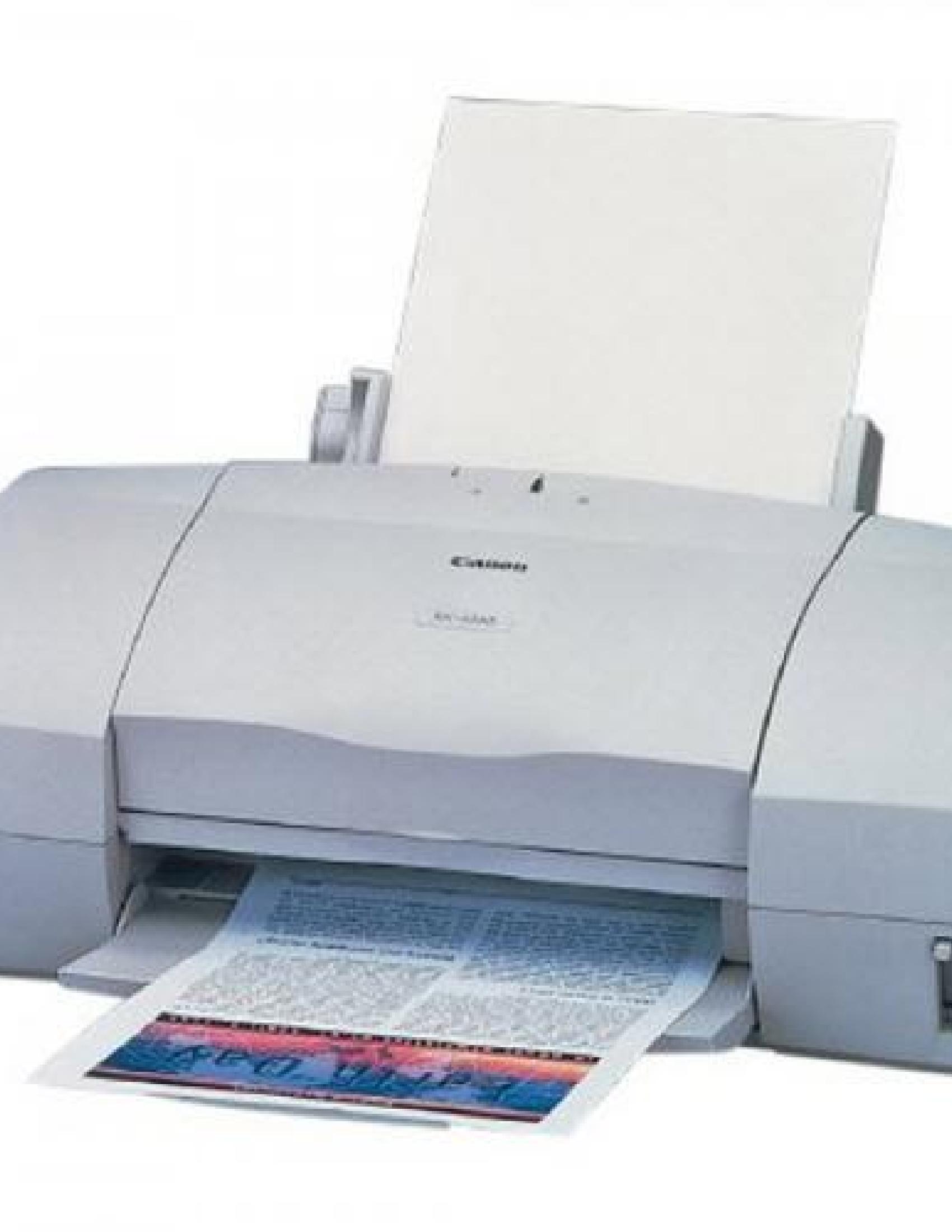 Canon BJC-6000 Printer manual