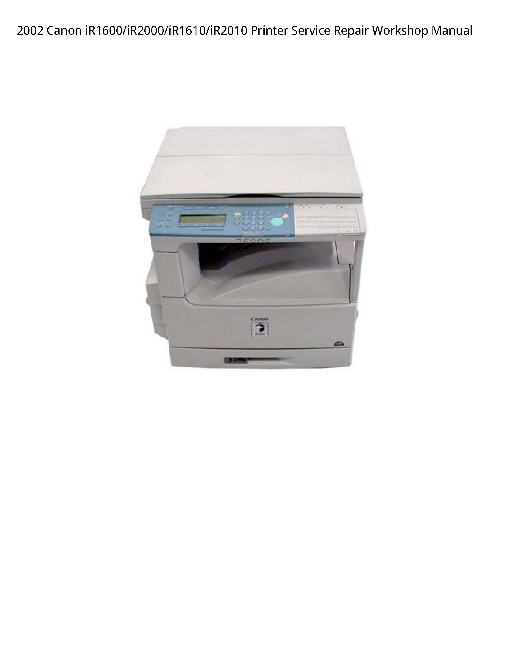 Canon iR1600 Printer manual