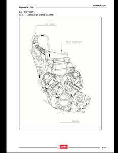 Aprilia 450 Motorcycle Engine manual