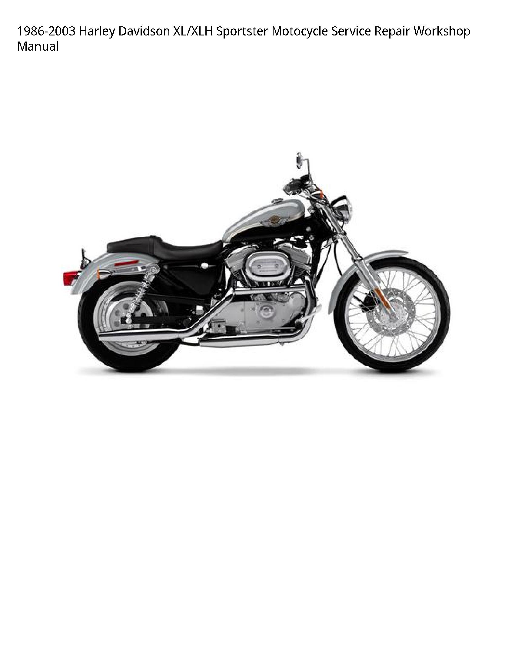 Harley Davidson XL/XLH Sportster Motocycle manual