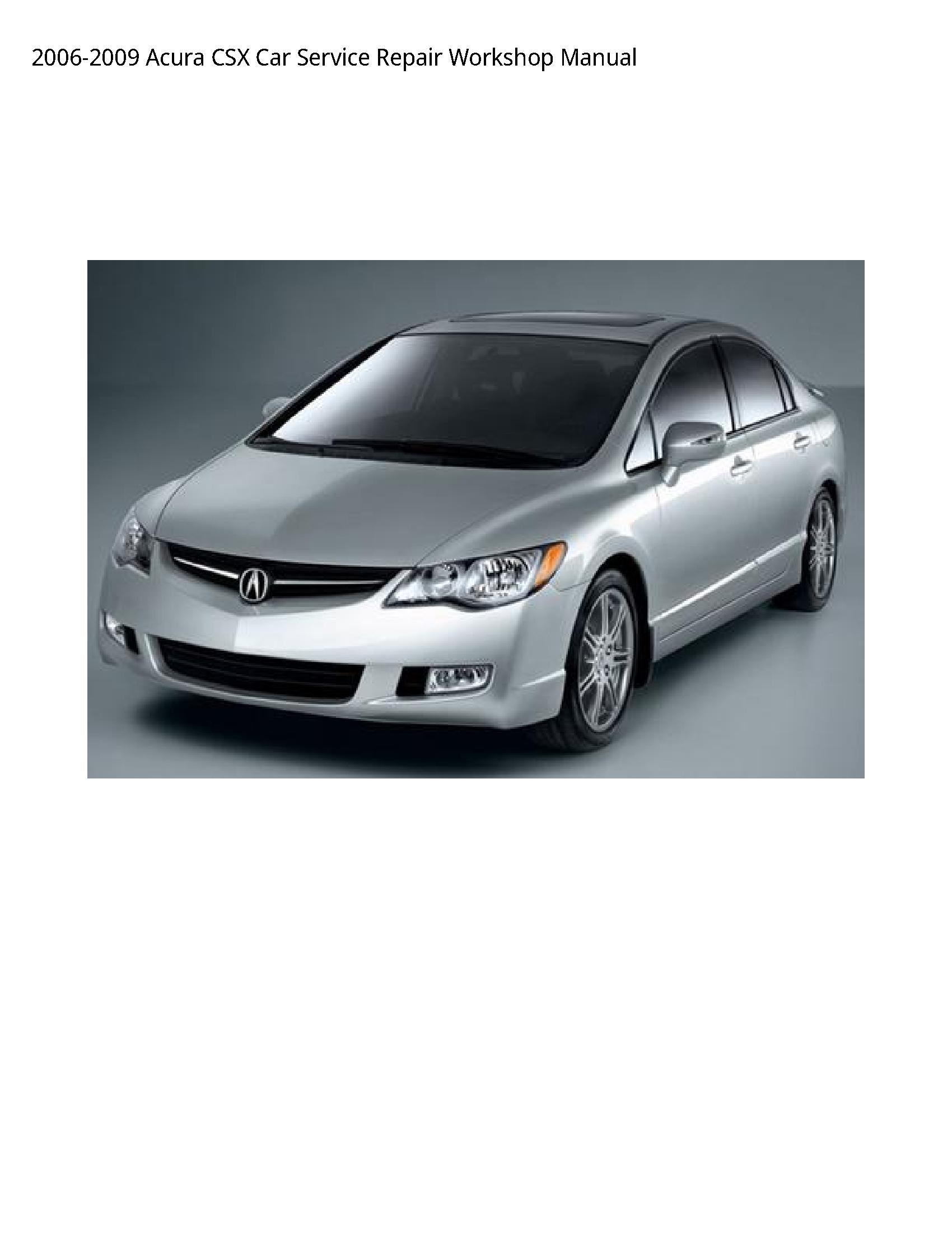Acura CSX Car manual