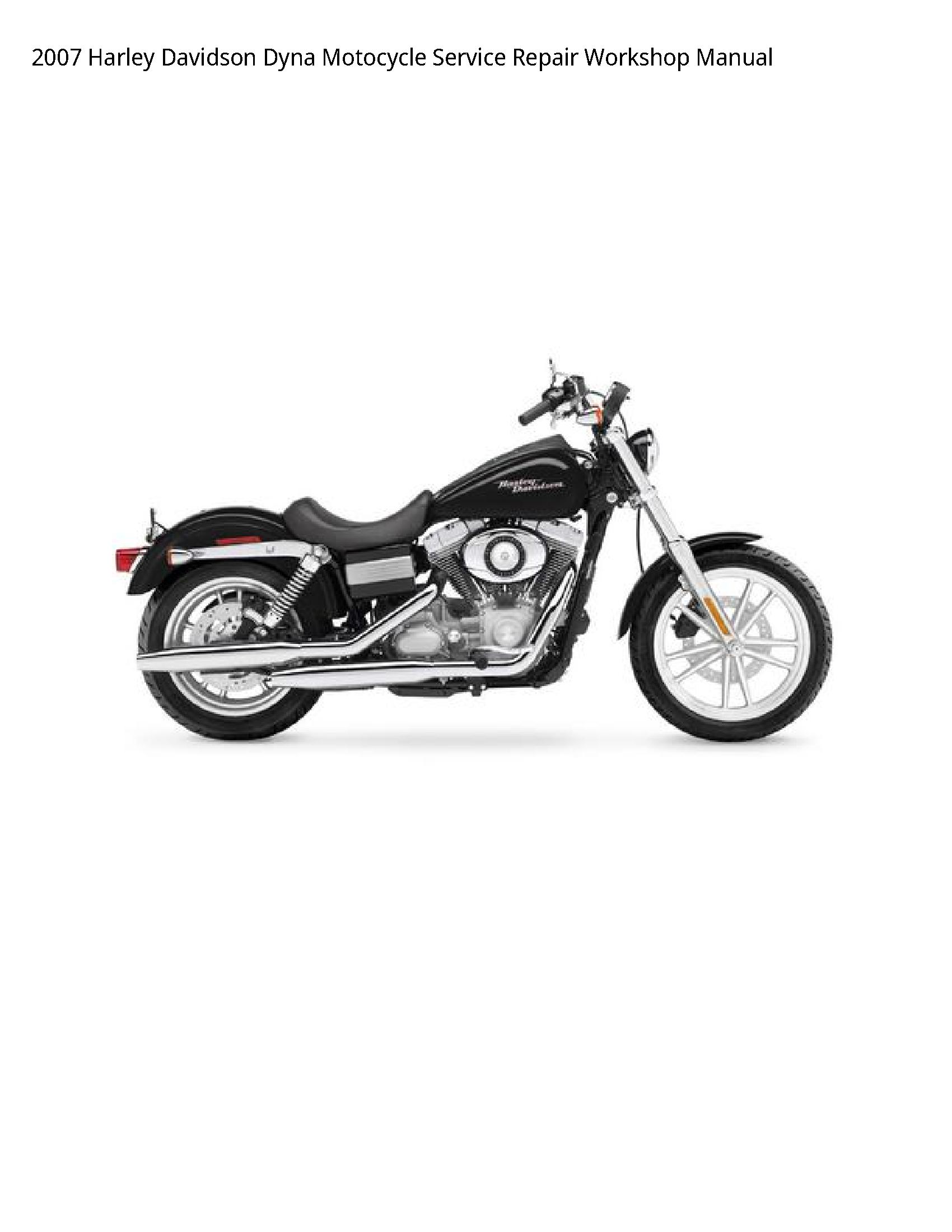Harley Davidson Dyna Motocycle manual