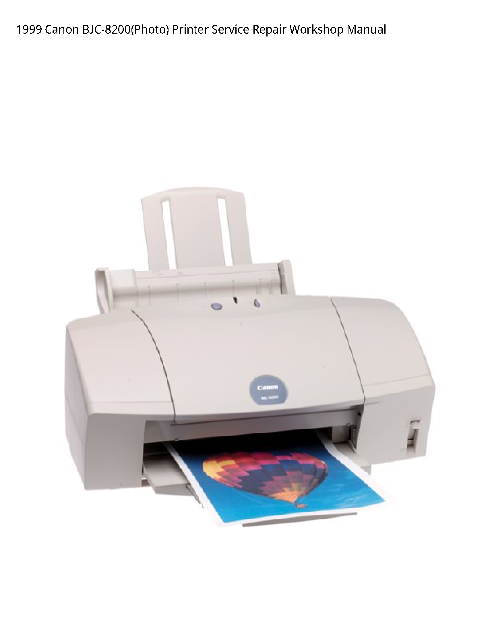 Canon BJC-8200(Photo) Printer manual