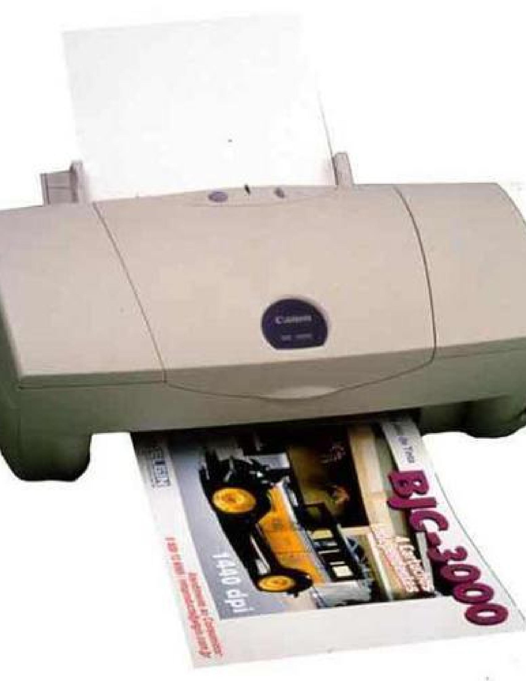Canon BJC-3000 Printer manual