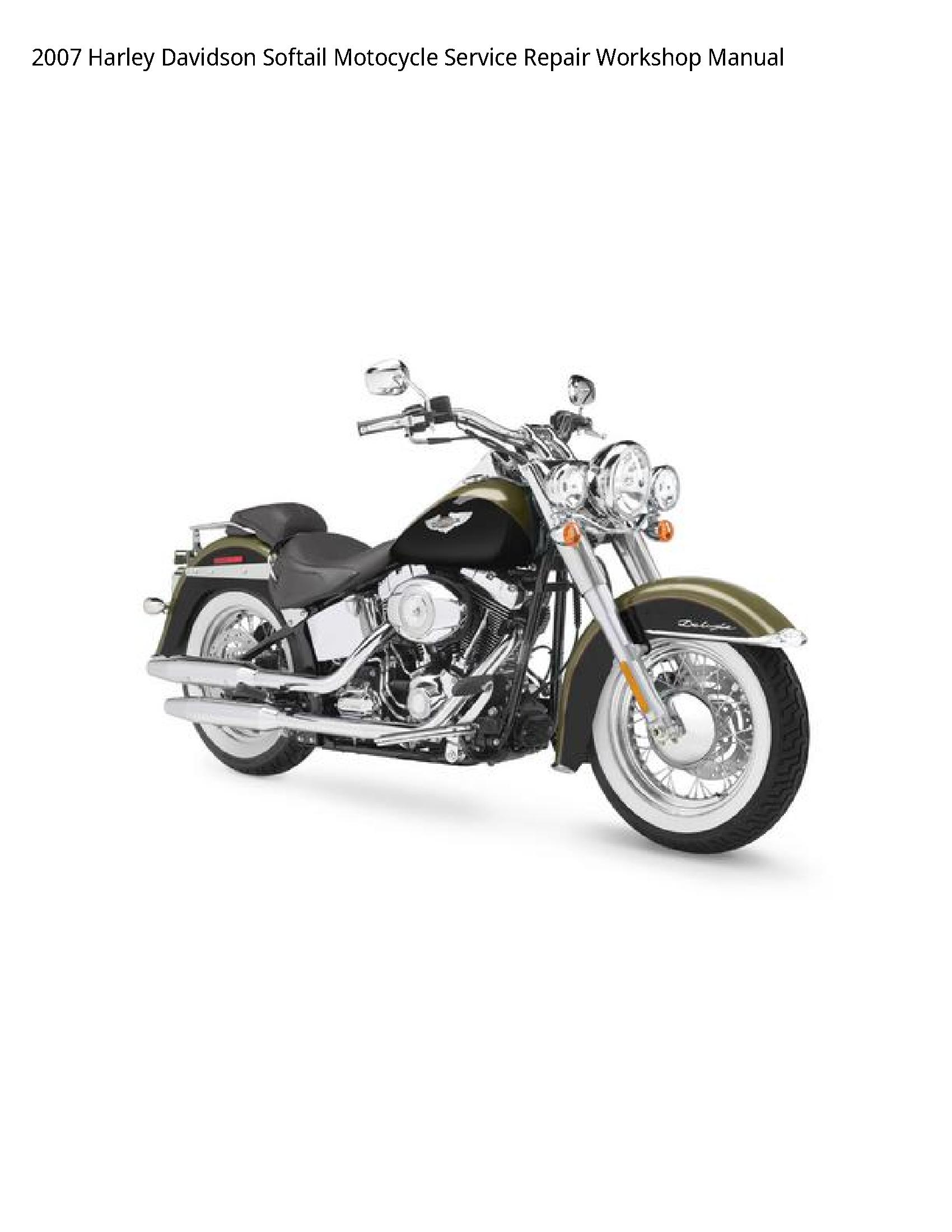 Harley Davidson Softail Motocycle manual