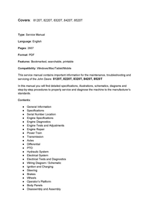 John Deere 8120T manual