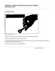John Deere Z355E ZTrak  manual pdf