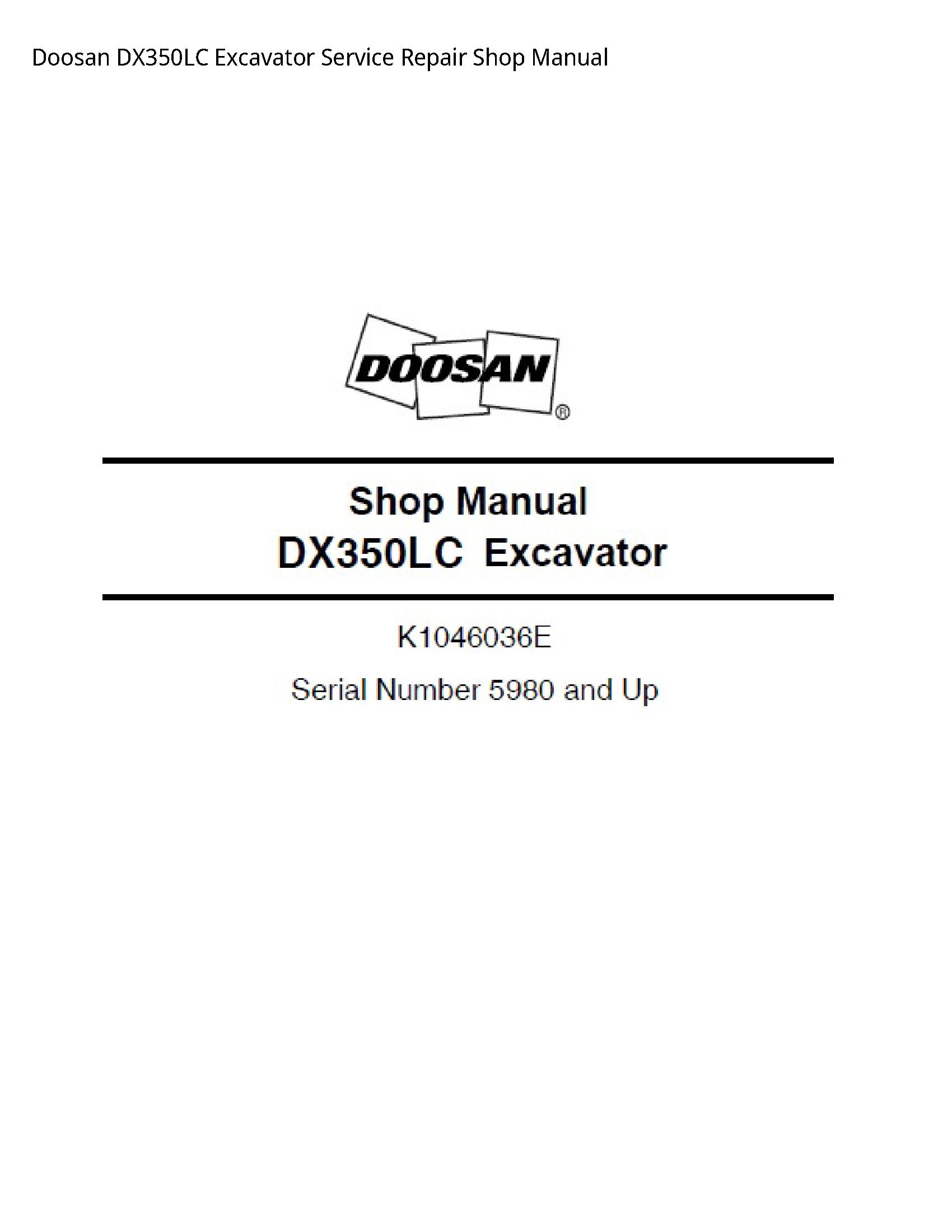 Doosan DX350LC Excavator manual