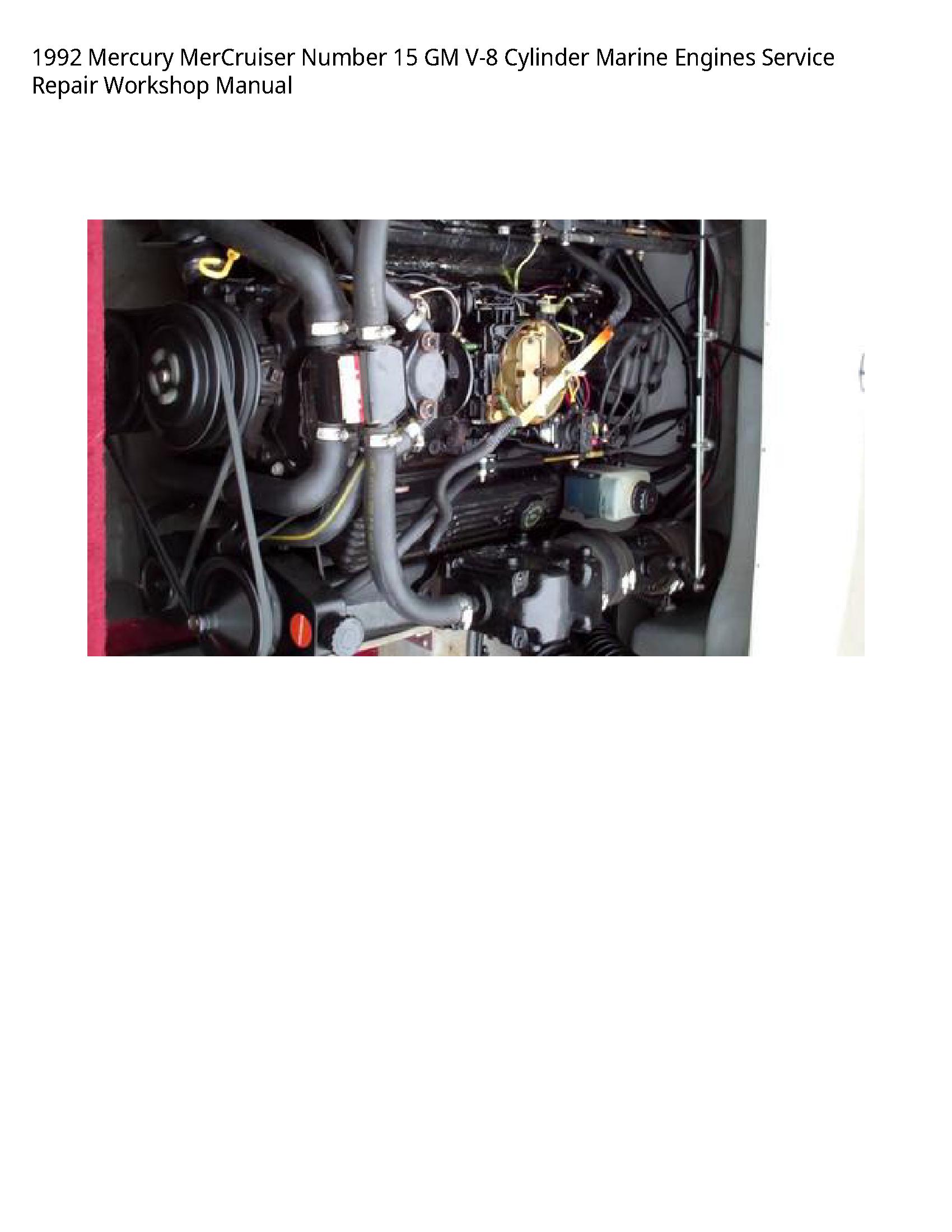 Mercury 15 MerCruiser Number GM Cylinder Marine Engines manual