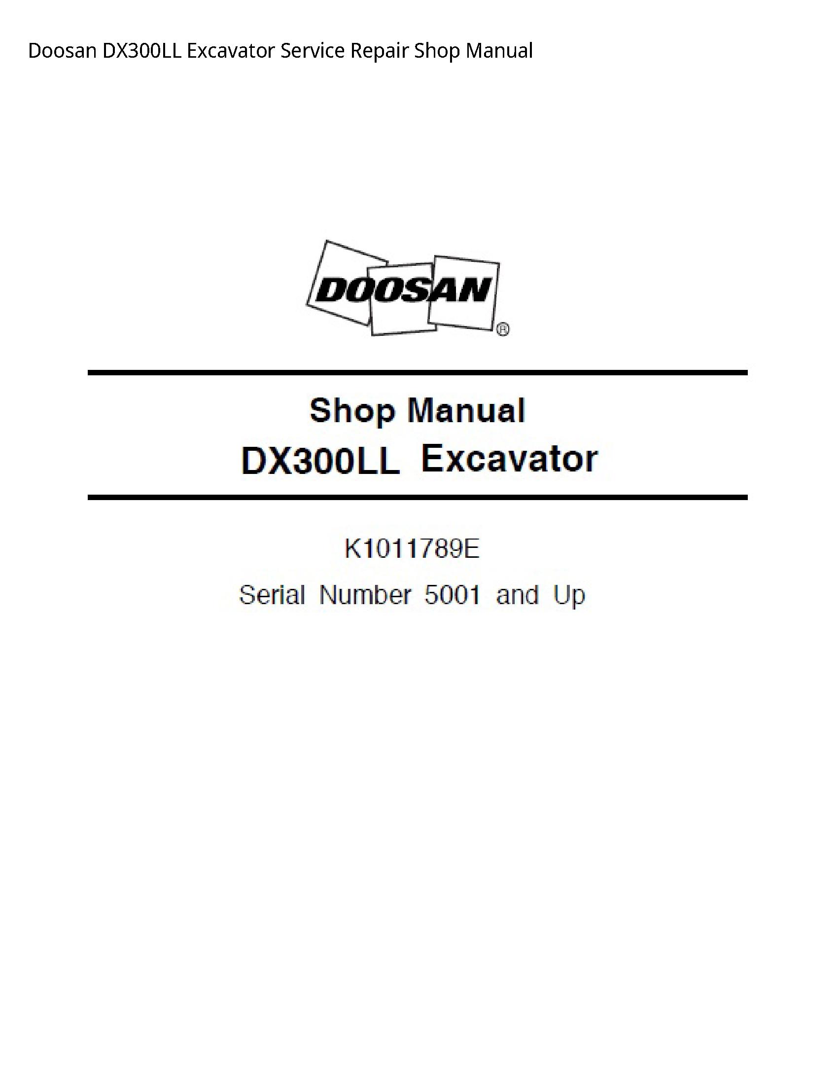 Doosan DX300LL Excavator manual