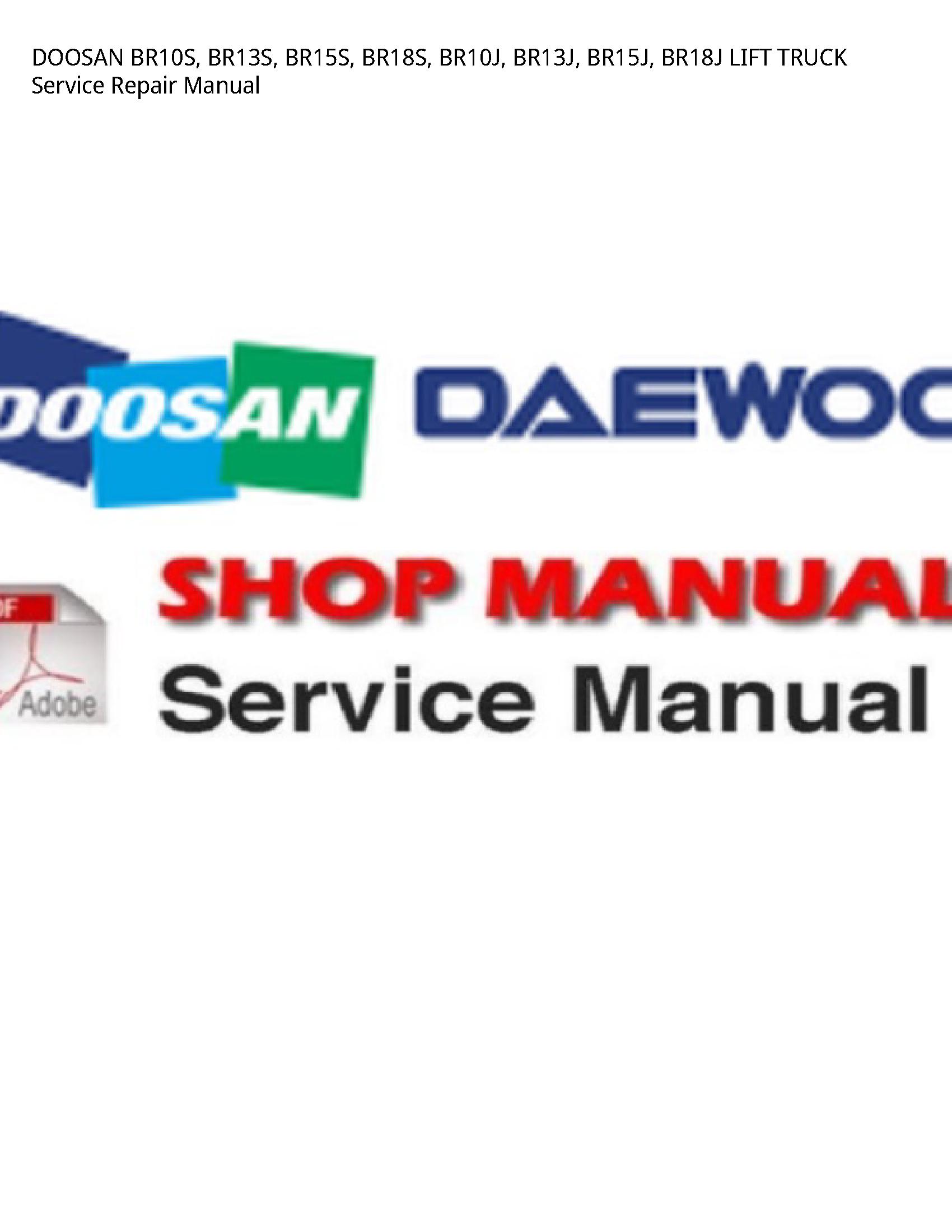 Doosan BR10S LIFT TRUCK manual