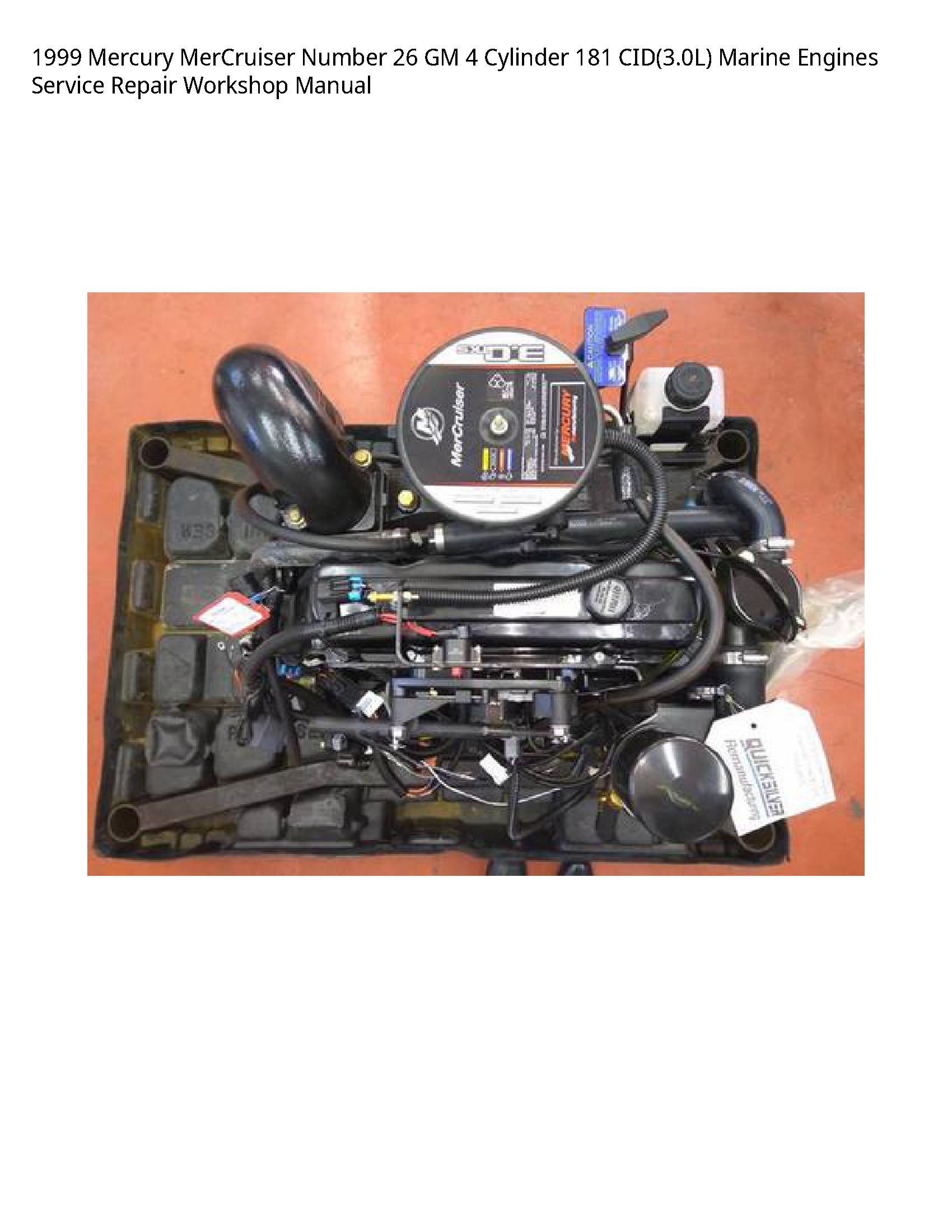 Mercury 26 MerCruiser Number GM Cylinder Marine Engines manual