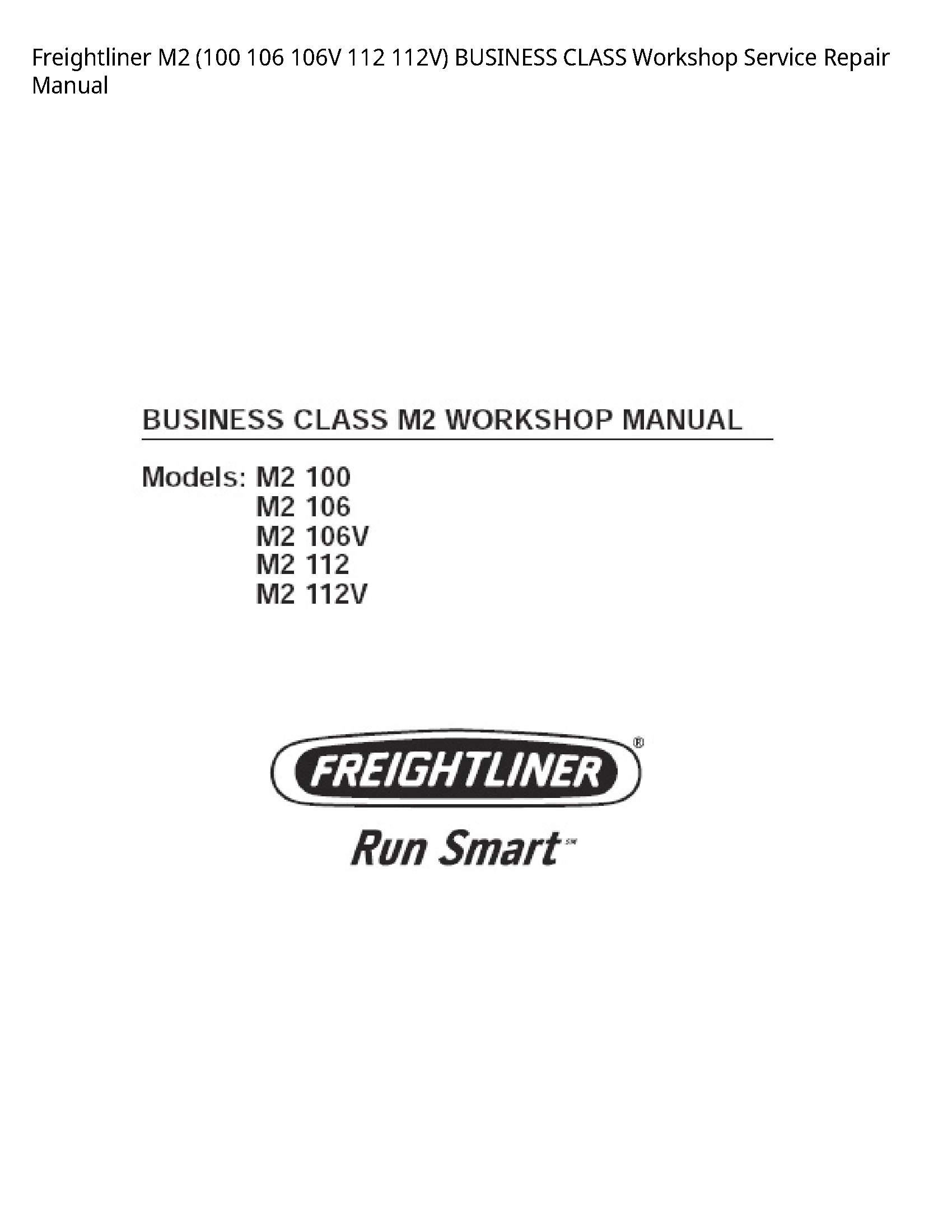 Freightliner M2 BUSINESS CLASS manual