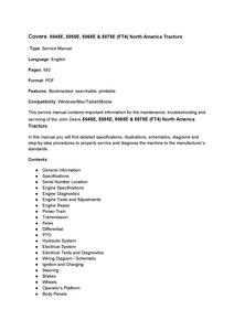 John Deere 5045E manual