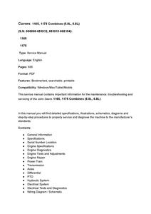 John Deere 1165 manual