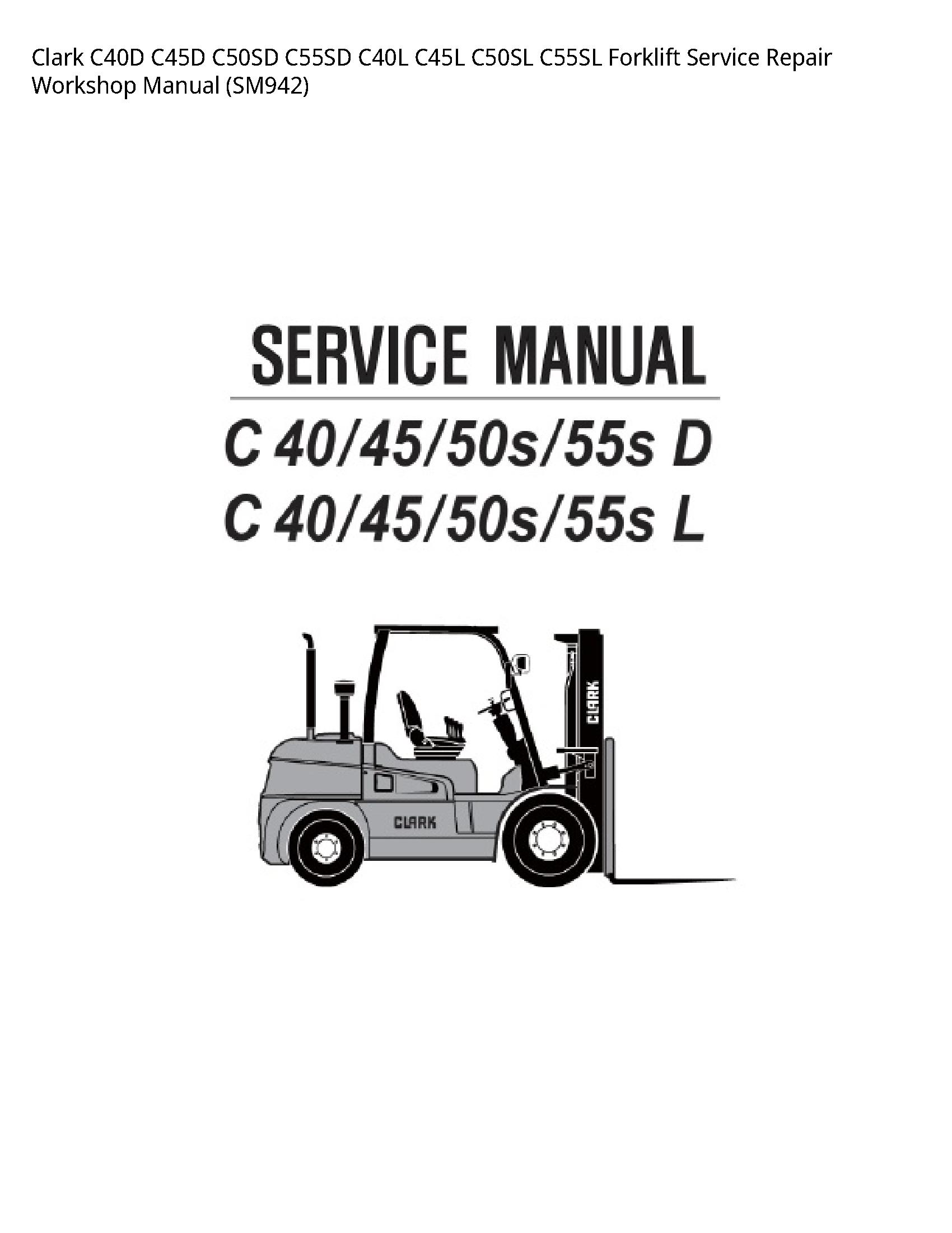 Clark C40D Forklift manual