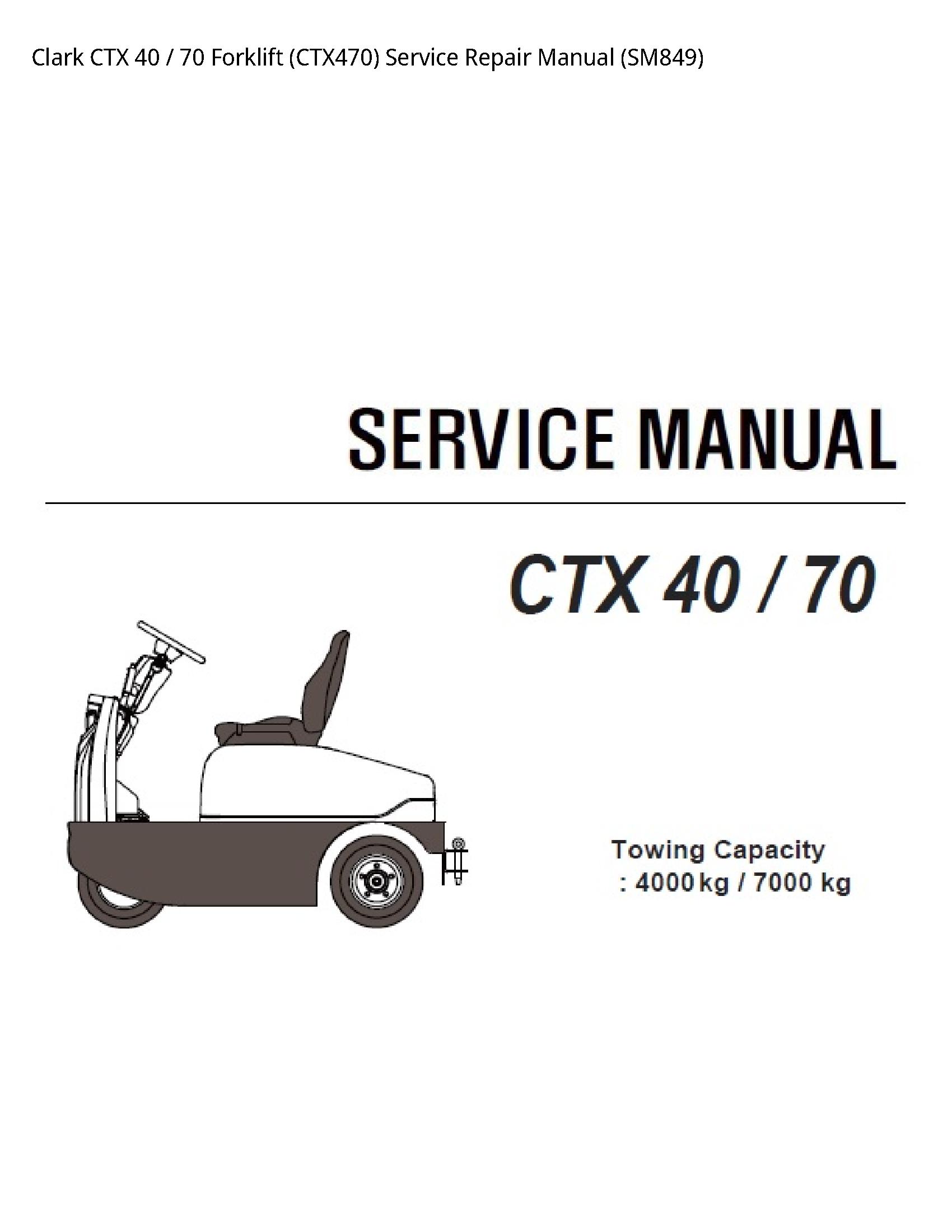 Clark 40 CTX Forklift manual