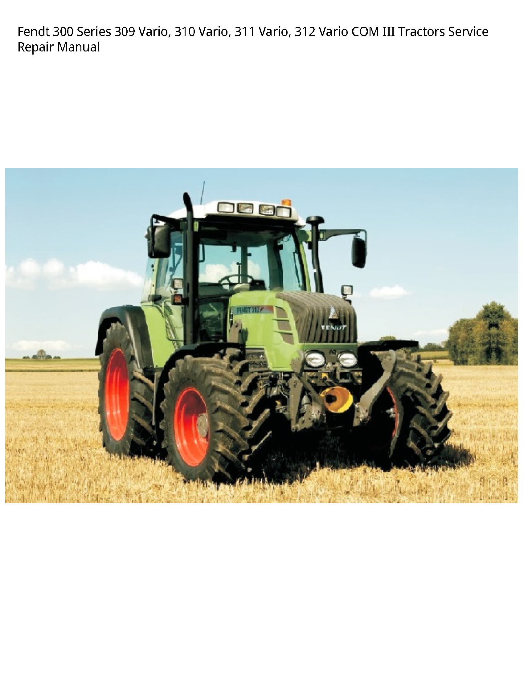 Fendt 300 Series Vario manual