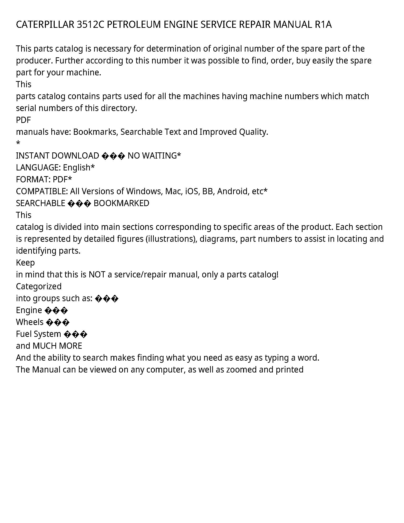 Caterpillar 3512C service manual