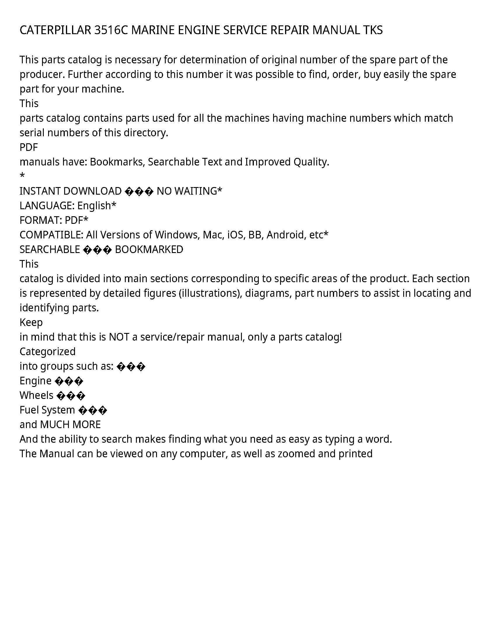 Caterpillar 3516C service manual