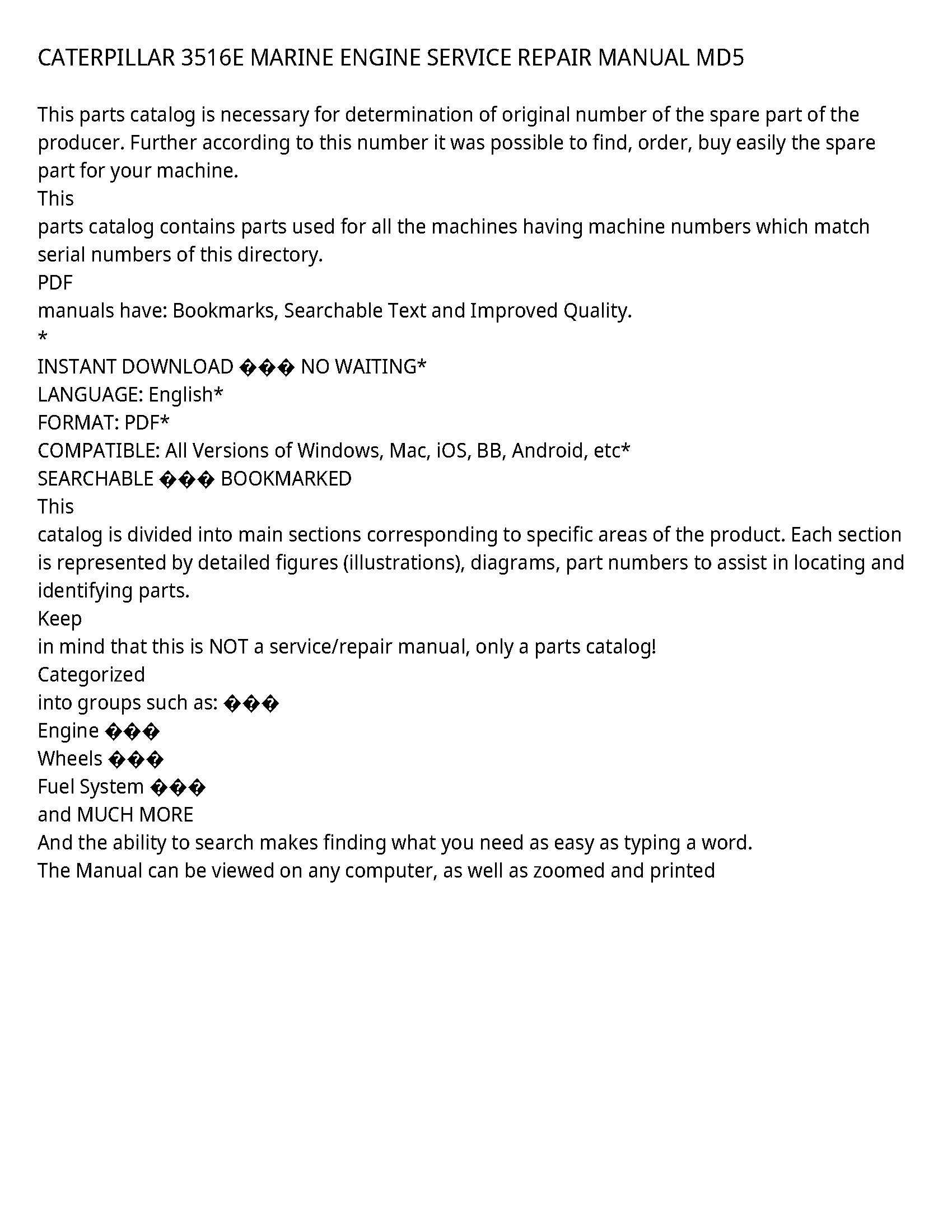Caterpillar 3516E service manual
