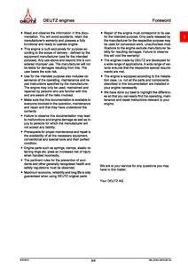 Deutz 800 TTCD Engine (for Fendt Vario Service manual