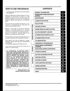 Honda VT600C Motocycle manual