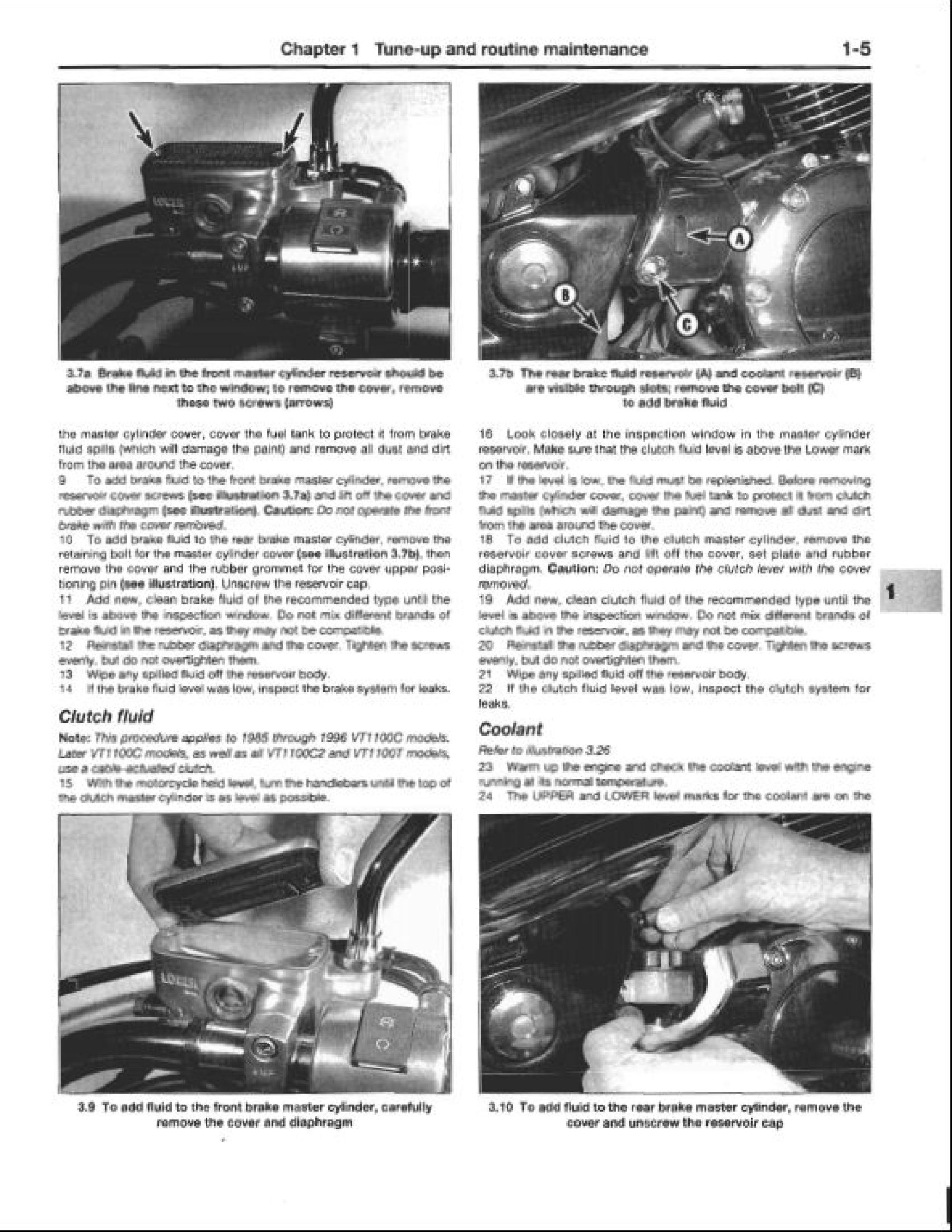 Honda VT1100 Shadow Motocycle manual
