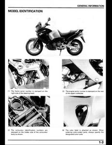 Honda XL1000V Varadero Motocycle service manual